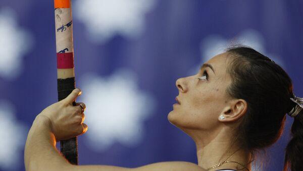 Elena Isinbáyeva, doble campeona olímpica de salto con pértiga y plusmarquista mundial - Sputnik Mundo