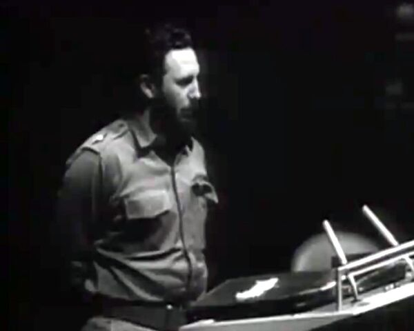 Fidel Castro pronuncia ante la ONU un discurso de cuatro horas y media en 1960 - Sputnik Mundo