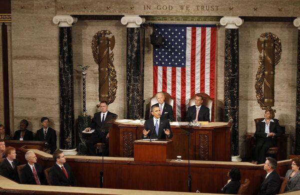 Obama pide al Congreso hallar métodos para recortar el déficit en más de $1,5 billones - Sputnik Mundo