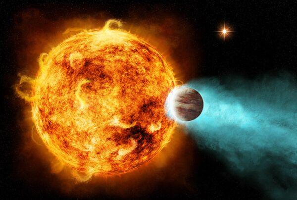 """Astrónomos hallan estrella que """"ataca"""" un planeta con rayos X - Sputnik Mundo"""