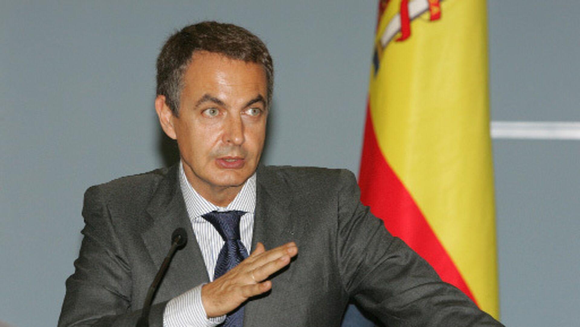 Председатель правительства Испании Хосе Луис Родригес Сапатеро. Архив - Sputnik Mundo, 1920, 28.04.2021