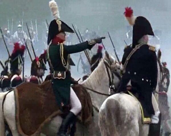 """Checos disfrazados de """"rusos"""" y Napoleón venido de EEUU reeditan la batalla de Austerlitz - Sputnik Mundo"""