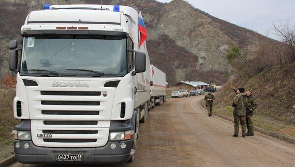 Ayuda humanitaria rusa en Serbia (Archivo) - Sputnik Mundo
