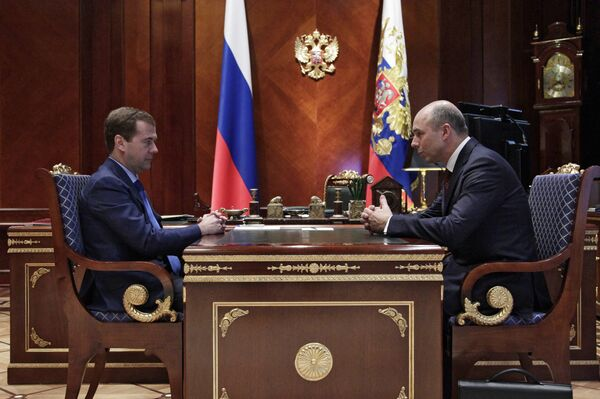 Dmitri Medvédev y Antón Siluánov - Sputnik Mundo