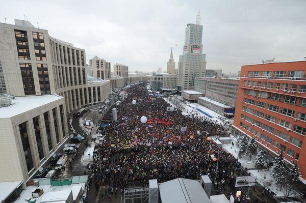 La manifestación en Moscú, 24 de diciembre  - Sputnik Mundo