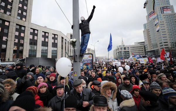 La manifestación Por unas elecciones limpias del 24 de diciembre en Moscú - Sputnik Mundo