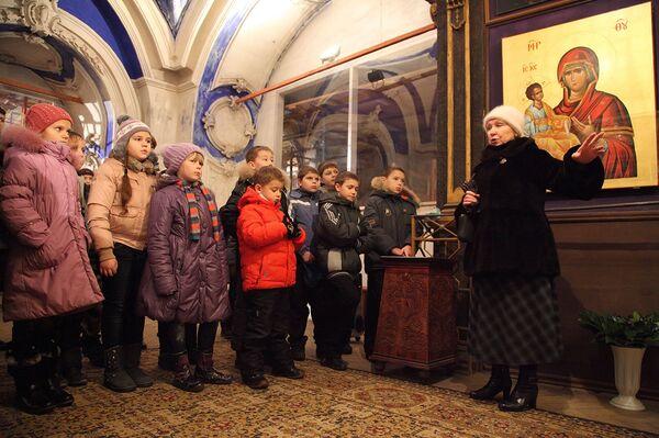 Programa navideño en el Monasterio de la Nueva Jerusalén - Sputnik Mundo