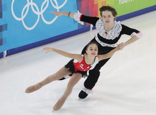 Triunfadores de las competiciones de patinaje artístico en las Olimpiadas Juveniles de Invierno 2012 - Sputnik Mundo