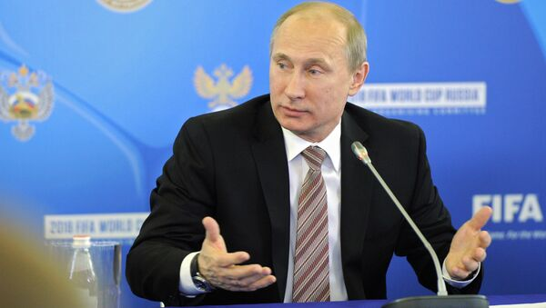 Putin asegura que el Mundial 2018 será uno de los más notables en la historia del fútbol - Sputnik Mundo