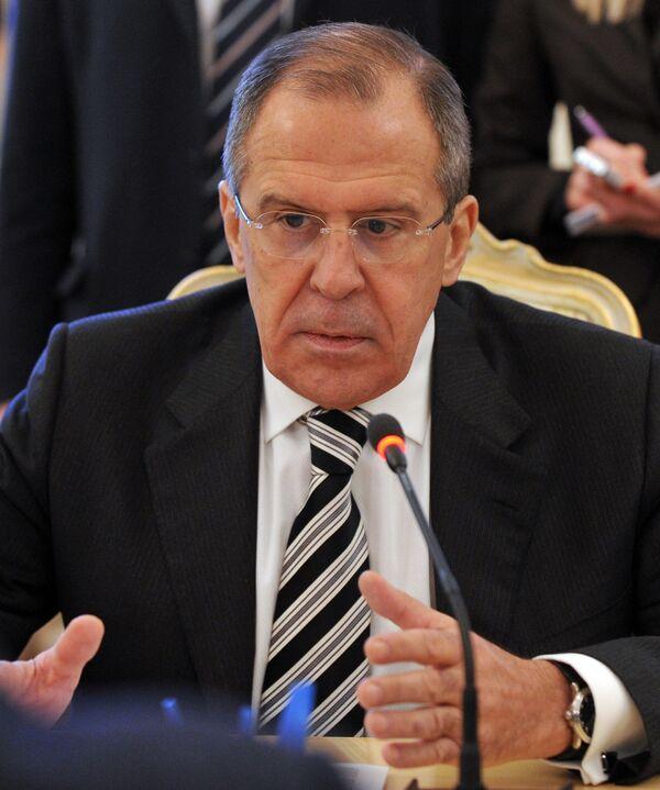 Lavrov previene de manipular resoluciones del CS de la ONU a la luz de la 'primavera árabe' - Sputnik Mundo