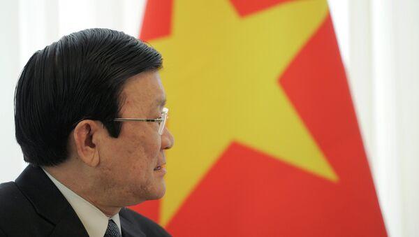 El presidente de Vietnam Truong Tan Sang - Sputnik Mundo