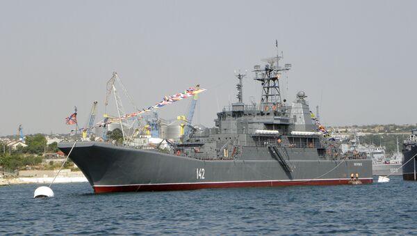 Buque ruso de la Flota del Mar Negro 'Novocherkassk' - Sputnik Mundo