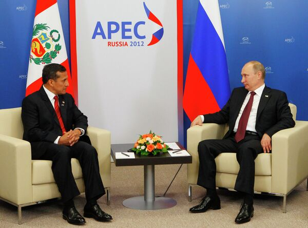 Ollanta Humala y Vladímir Putin - Sputnik Mundo