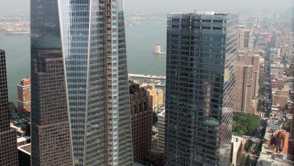 Вид из башни ВТЦ-4 Всемирного торгового центра в Нью-Йорке - Sputnik Mundo