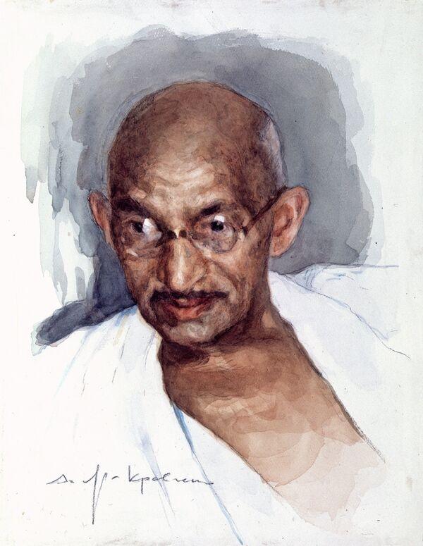 Mahatma Gandhi, gran activista político hindú - Sputnik Mundo