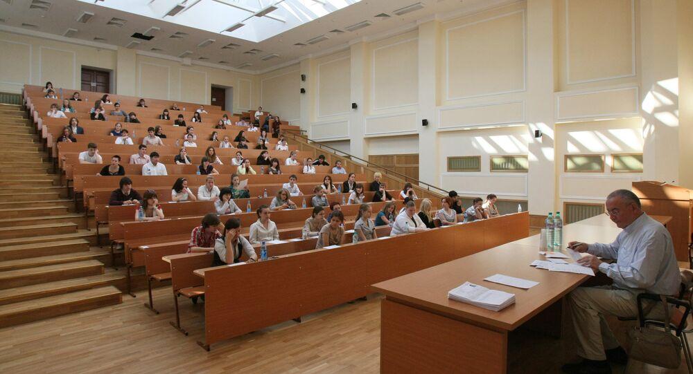 Clase en la Universidad Estatal de Moscú