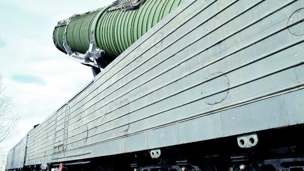 Боевой ракетный железнодорожный комплекс - Sputnik Mundo