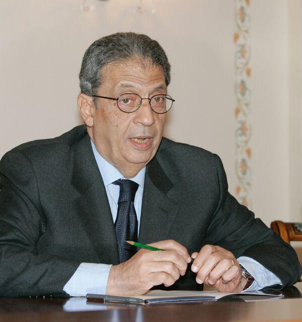 el exsecretario general de la Liga Árabe y, actualmente, uno de los líderes de la oposición egipcia, Amr Musa - Sputnik Mundo