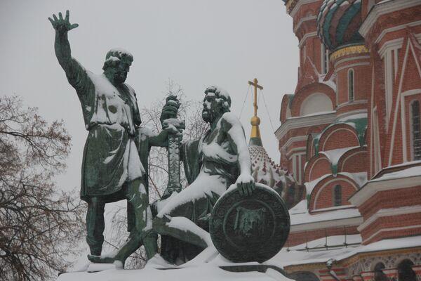 Calles de Moscú cubiertas de nieve  - Sputnik Mundo