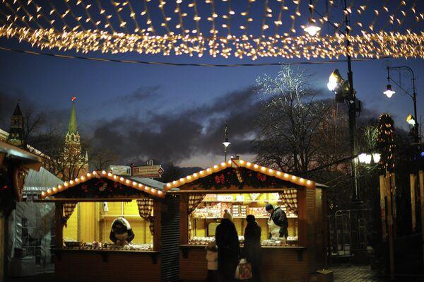 Moscú acoge la Feria de Navidad de Estrasburgo - Sputnik Mundo