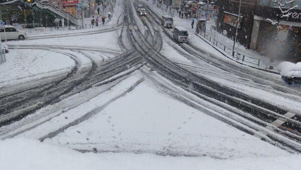 Una nevada en Japón (archivo) - Sputnik Mundo