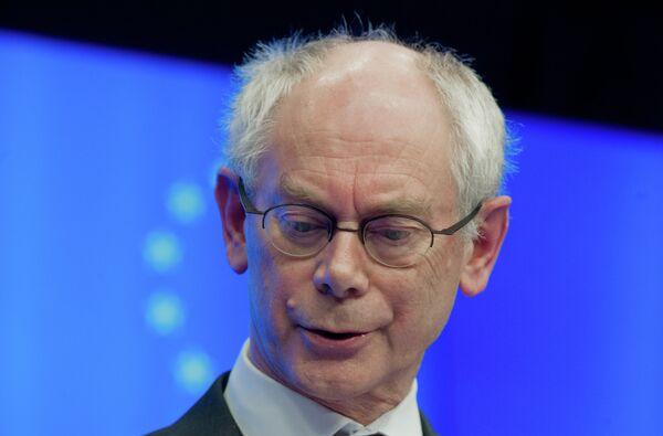 El presidente del Consejo Europeo, Herman van Rompuy - Sputnik Mundo
