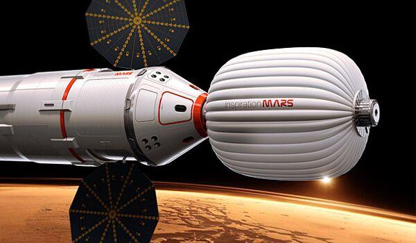 Nave Dragon para misión a Marte - Sputnik Mundo