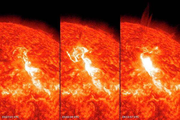 Explosiones en el Sol (archivo) - Sputnik Mundo