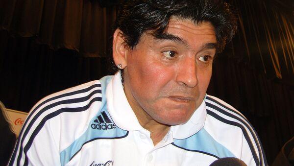 Diego Maradona, exfutbolista de Argentina - Sputnik Mundo