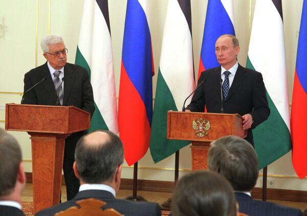 Mahmud Abás y Vladímir Putin. (Archivo) - Sputnik Mundo