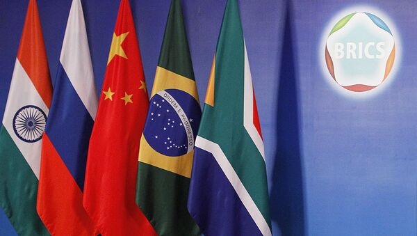 Banderas de los países BRICS - Sputnik Mundo