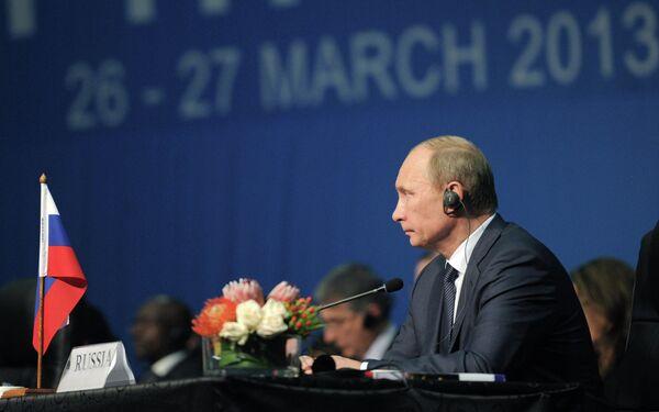 Presidente ruso, Vladímir Putin, defiende la creación del Banco de Desarrollo del grupo BRICS - Sputnik Mundo