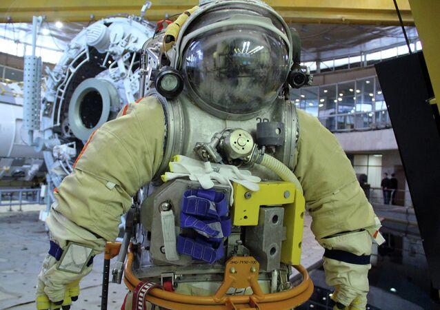 El traje espacial ruso 'Orlán' (imagen referencial)