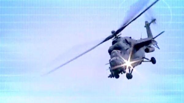 Rusia exhibe el helicóptero de ataque Mi-35M en la feria HeliRussia 2013 - Sputnik Mundo