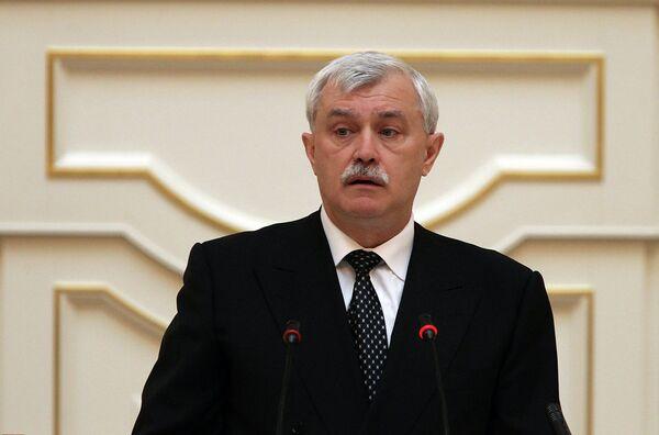 Gobernador de San Petersburgo, Gueorgui Poltavchenko - Sputnik Mundo