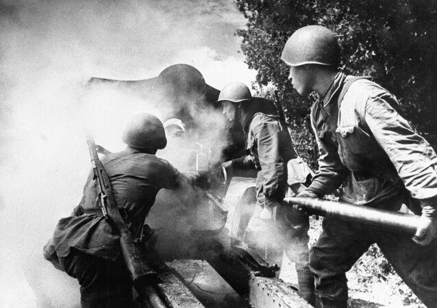 Soldados rusos durante la Segunda Guerra Mundial