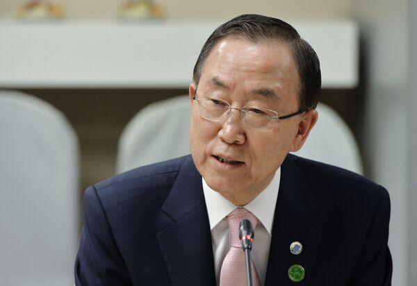 Ban Ki-moon dice que el uso de la fuerza requiere autorización del Consejo de Seguridad - Sputnik Mundo