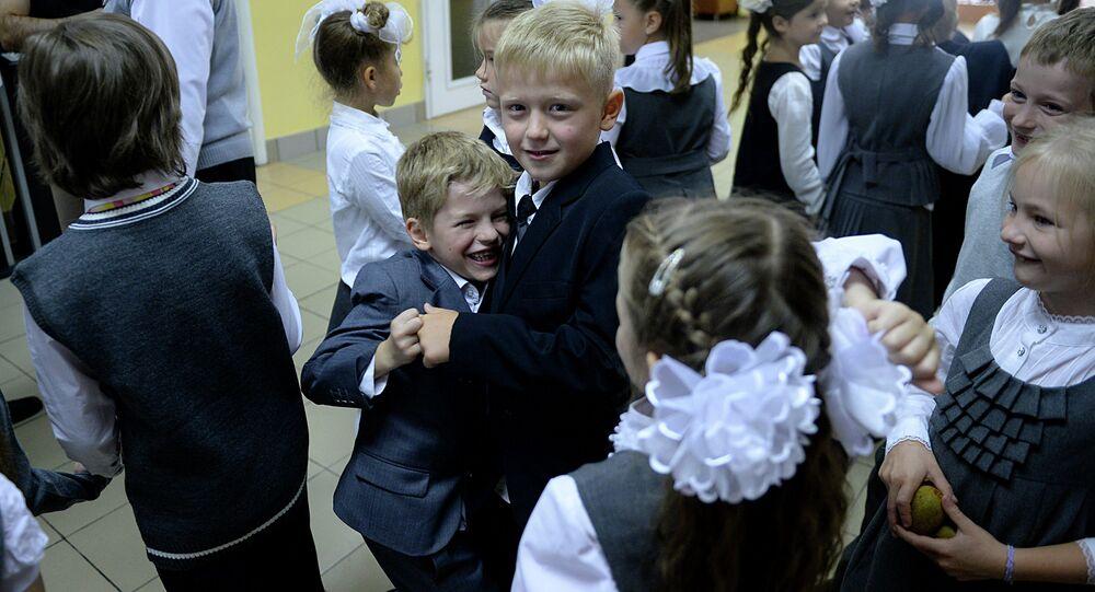 Escolares moscovitas