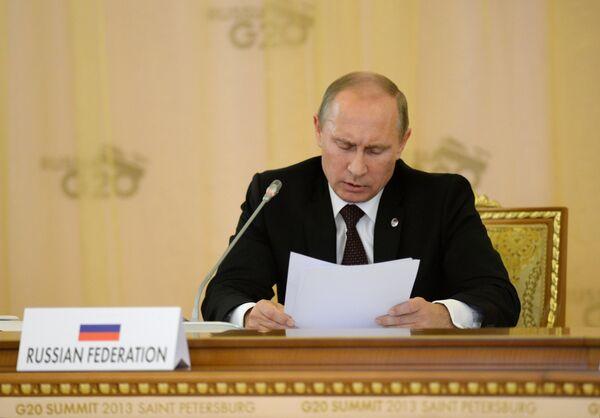 Vladímir Putin, en la cumbre del G20 en San Petersburgo - Sputnik Mundo