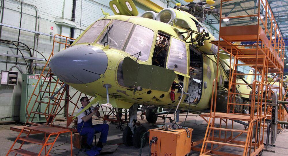 Fabricación de helicópteros en Kazán, Rusia