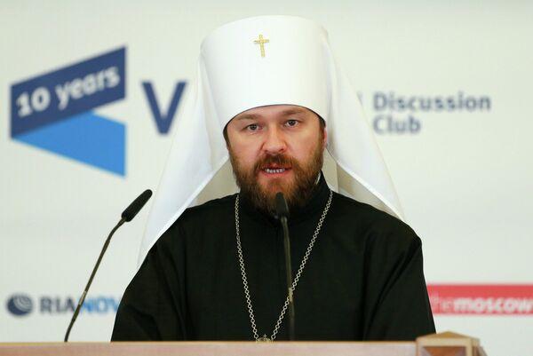 Jefe de las relaciones eclesiásticas exteriores del Patriarcado de Moscú y arzobispo metropolitano de Volokolamsk Ilarión - Sputnik Mundo