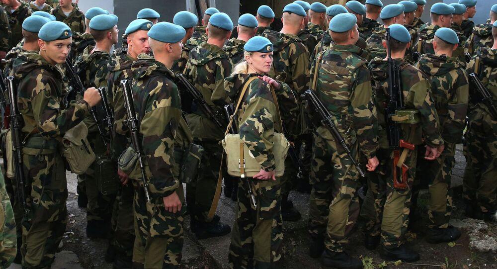 Los militares bielorrusos durante las maniobras Zapad (archivo)