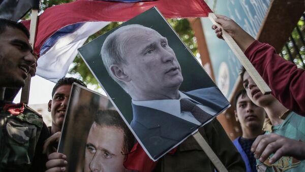 Mítines en apoyo a ayuda rusa a Siria (Archivo) - Sputnik Mundo