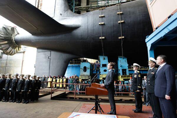 Botadura del submarino Severodvinsk - Sputnik Mundo