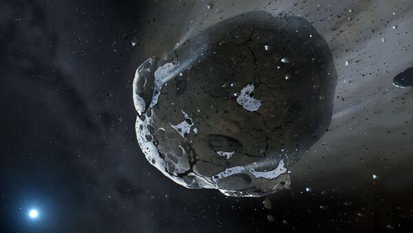 Водный астероид, устремляющийся к белому карлику - Sputnik Mundo