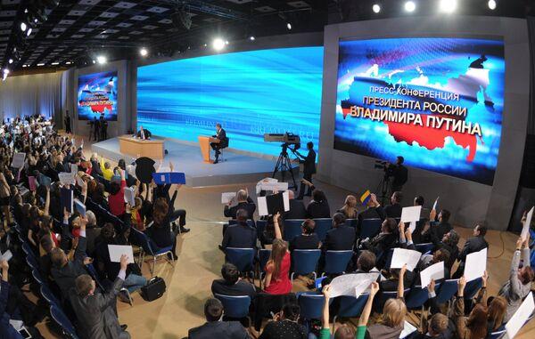 Putin contestó a 52 preguntas en cuatro horas en la rueda de prensa - Sputnik Mundo
