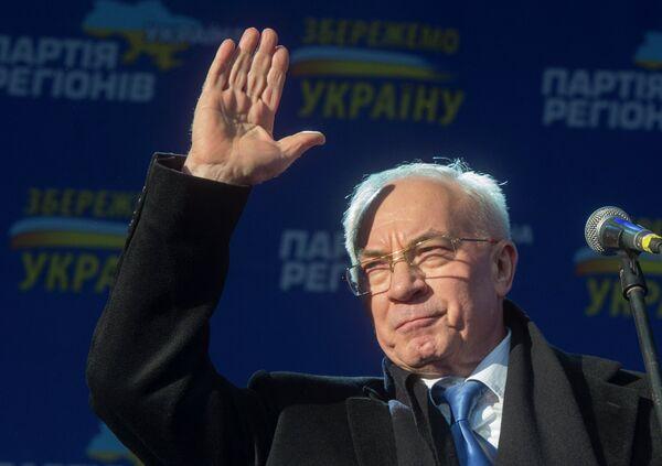 Primer ministro de Ucrania Nikolái Azárov - Sputnik Mundo