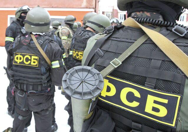 Fuerzas especiales de Rusia durante las maniobras