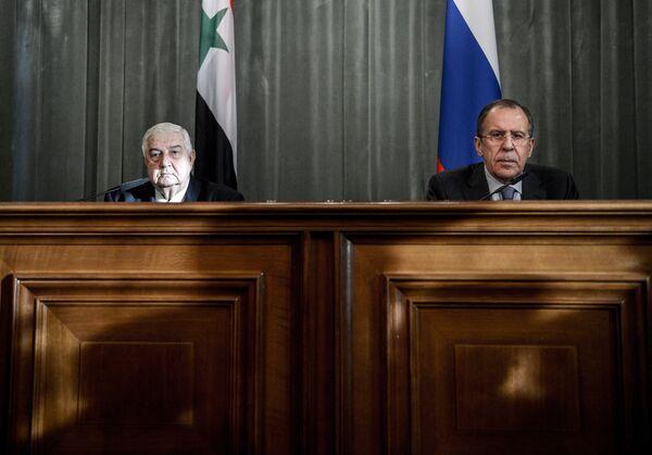 Walid al Mualem y Serguéi Lavrov - Sputnik Mundo