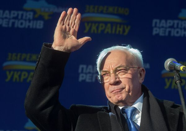 El primer ministro de Ucrania Nikolái Azárov - Sputnik Mundo